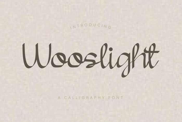 Wooslight Font poster