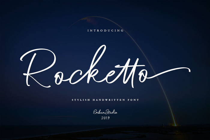 Rocketto Font poster