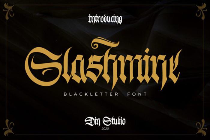 Slashmine Font poster