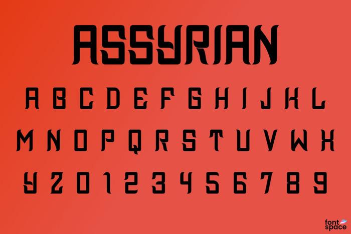 Assyrian Font poster