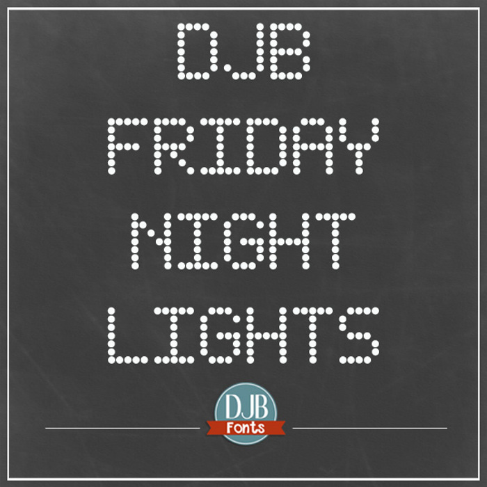 DJB Friday Night Lights Font poster