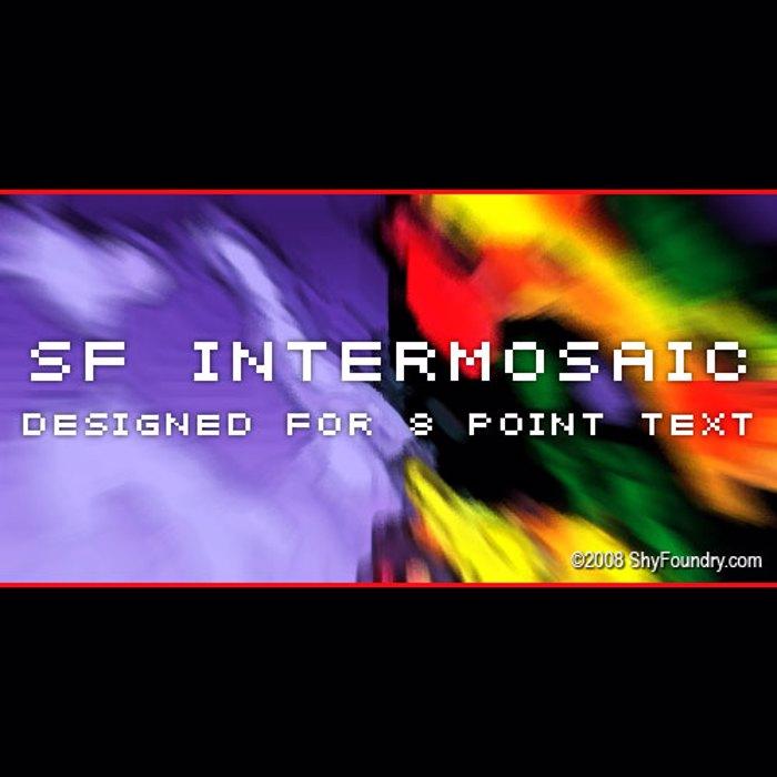 SF Intermosaic Font poster