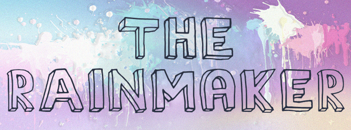 The Rainmaker Font poster