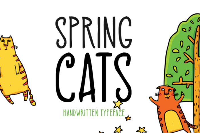Spring Cats Font poster