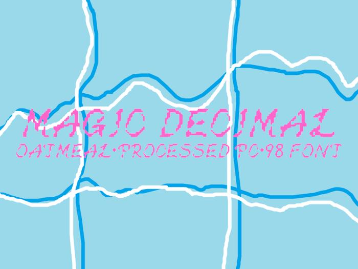 Magic Decimal Font poster