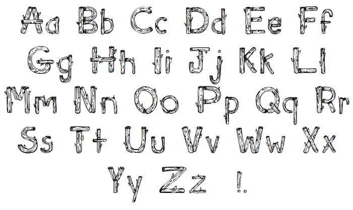 Sketch Logs Font poster