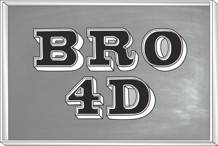 Bro 4D Demo Font poster
