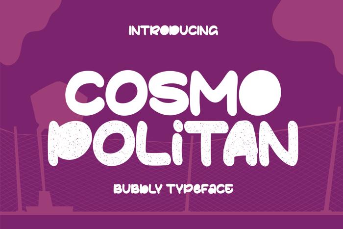 Cosmopolitan Font poster