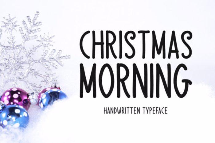 Christmas Morning Font poster
