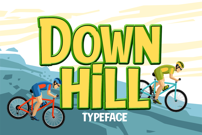 Down Hill Font poster