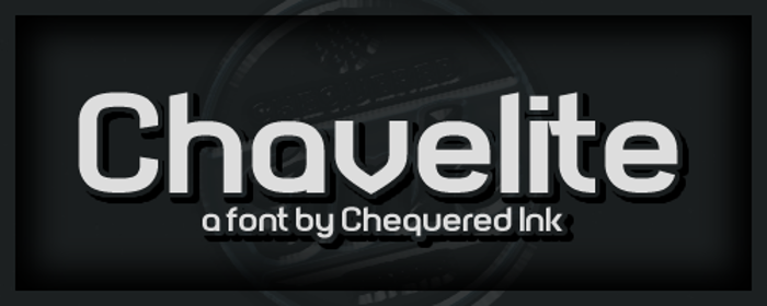 Chavelite Font poster