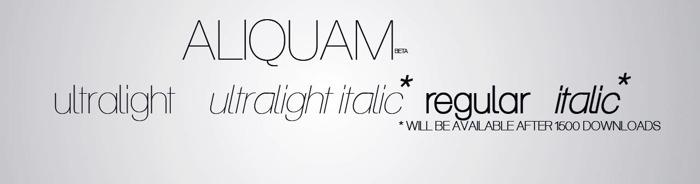 Aliquam Font poster