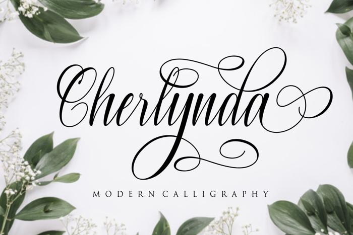 Cherlynda Font poster