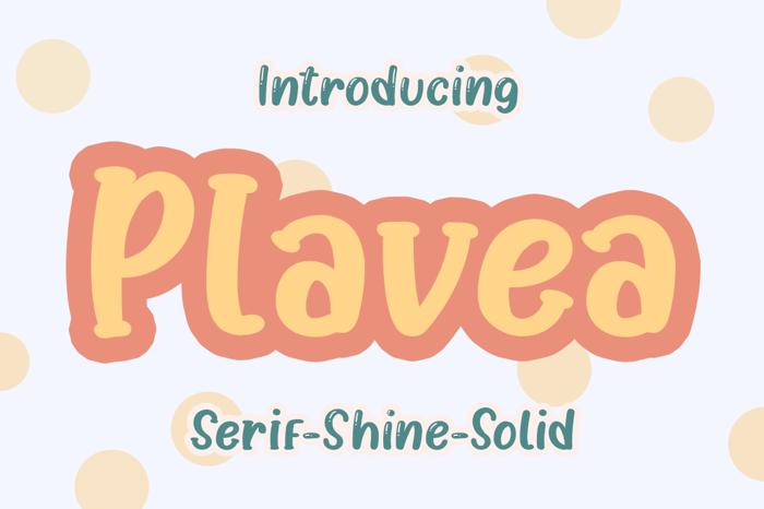 Plavea Font poster
