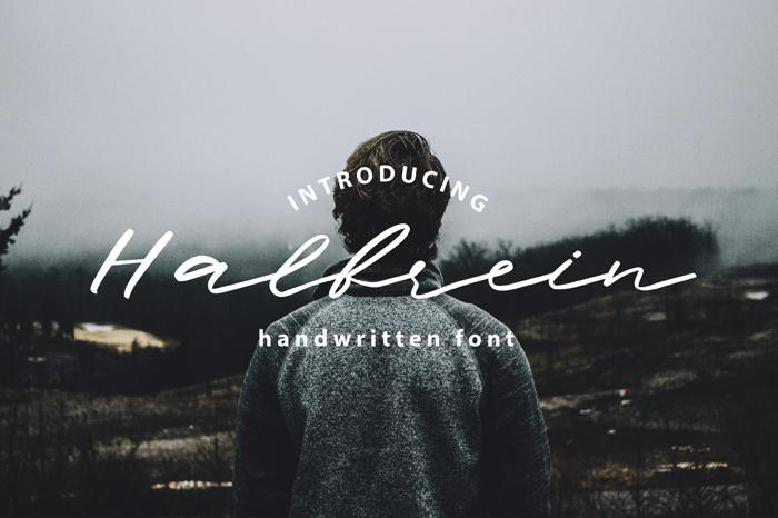 Halbrein Font poster