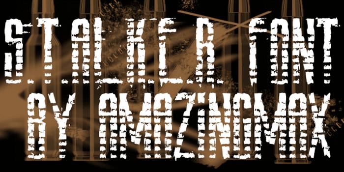 AmazS.T.A.L.K.E.R Font poster