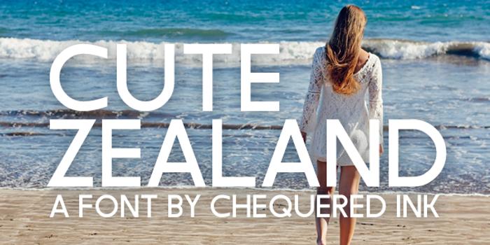 Cute Zealand Font poster