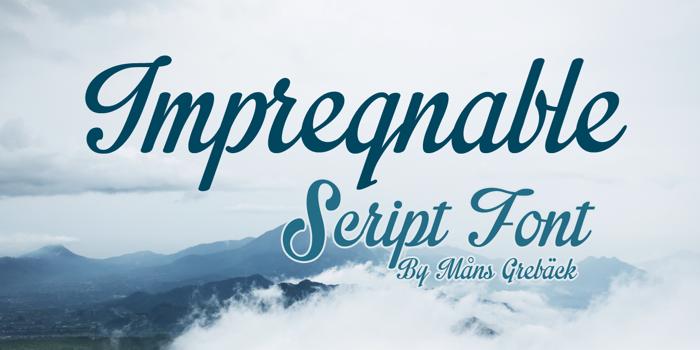 Impregnable Font poster