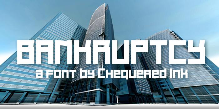 Bankruptcy Font poster