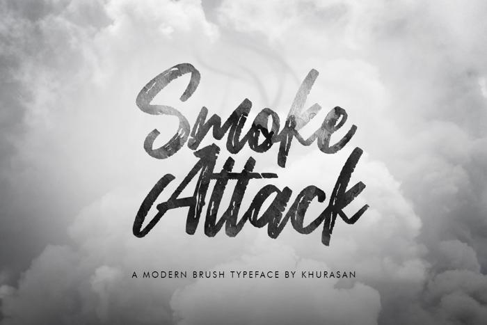 Smoke Attack Font poster