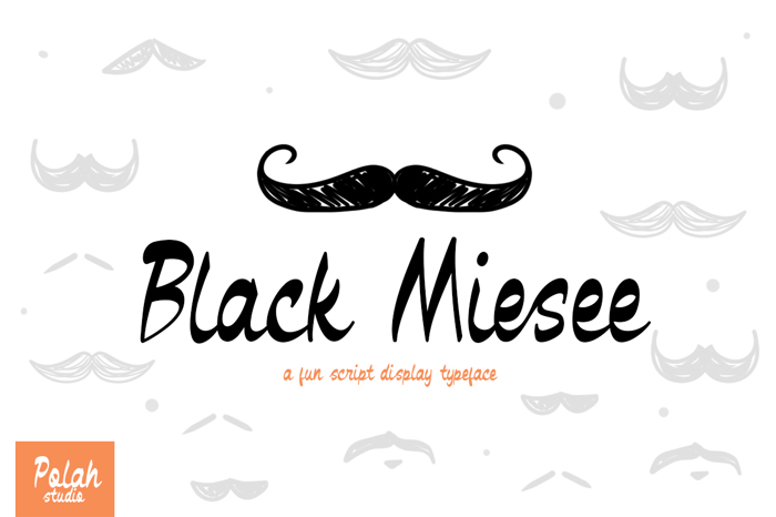 Black Miesee Font poster