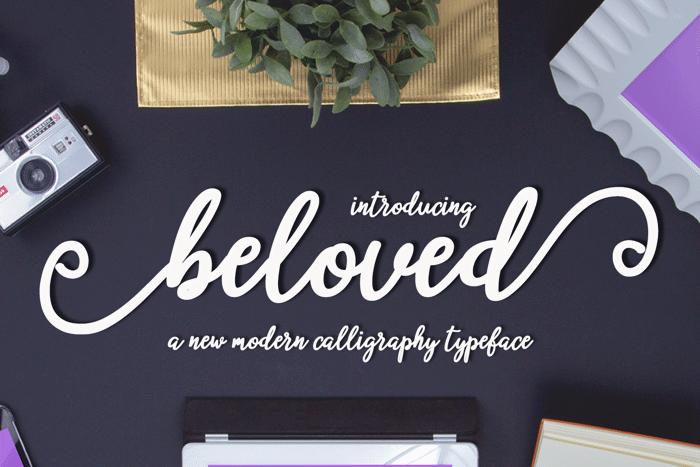 beloved Font poster