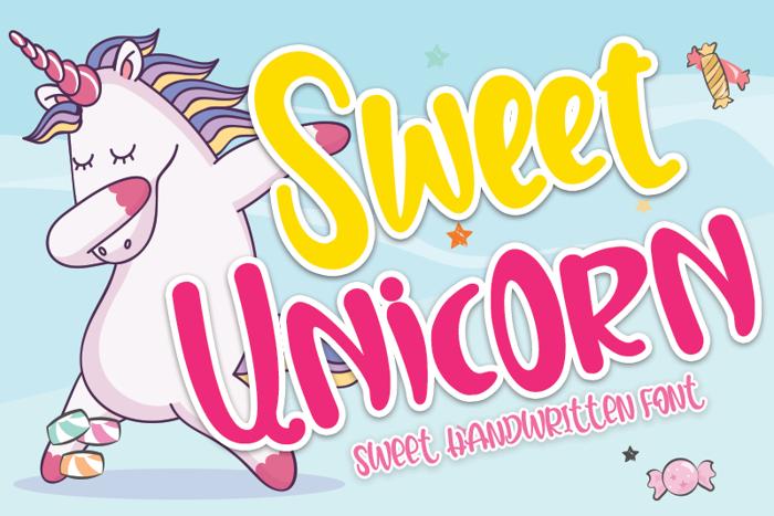 Sweet Unicorn Font poster