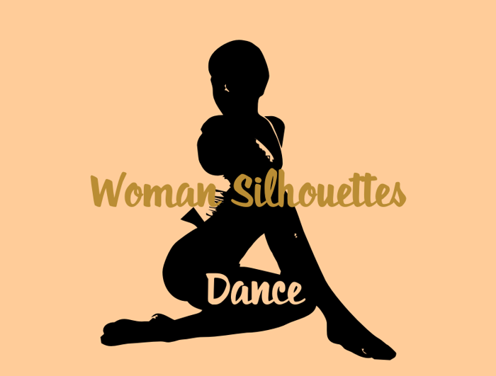 WomanSilhouettes Font poster