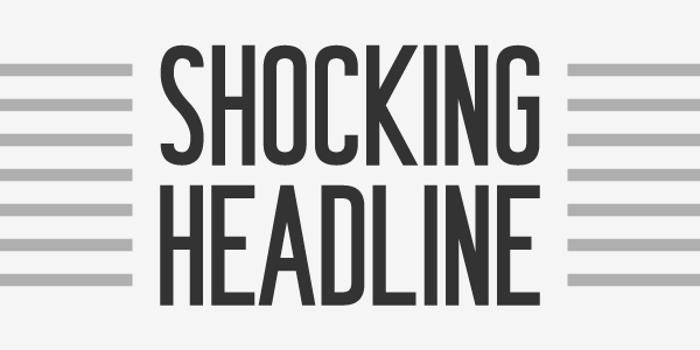Shocking Headline Font poster