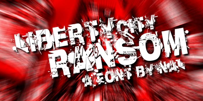 Liberty City Ransom Font poster