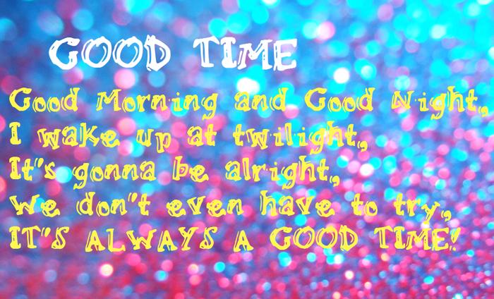 GoodTime Font poster