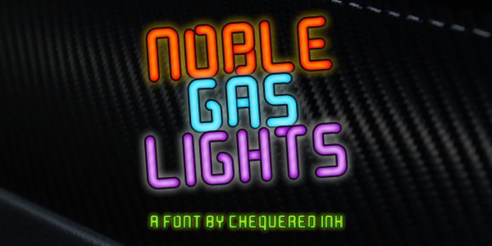 Noble Gas lights Font poster