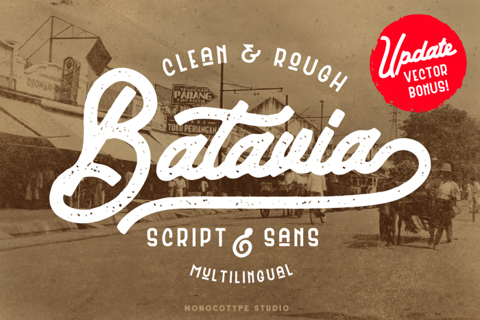 Batavia Sans Clean Font poster