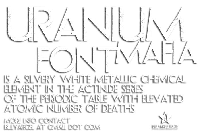 URANIUM MAFIA Font poster