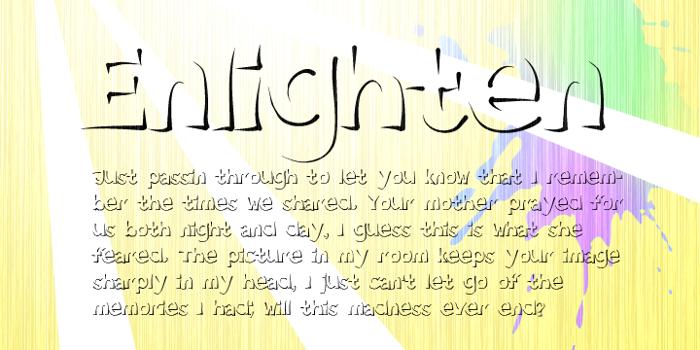 Enlighten  poster