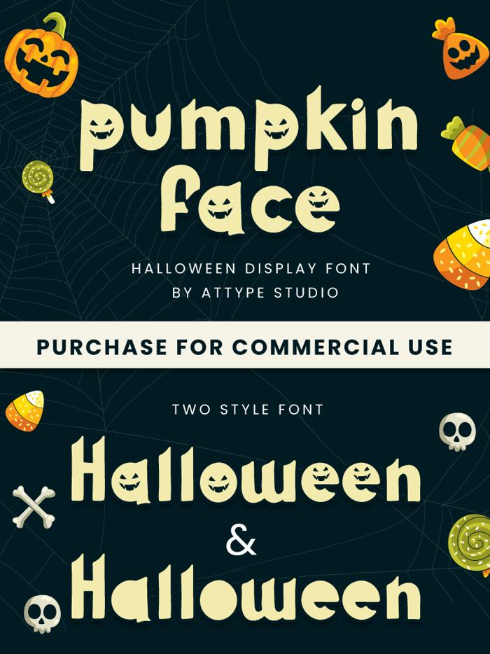 Pumpkin Face Font poster