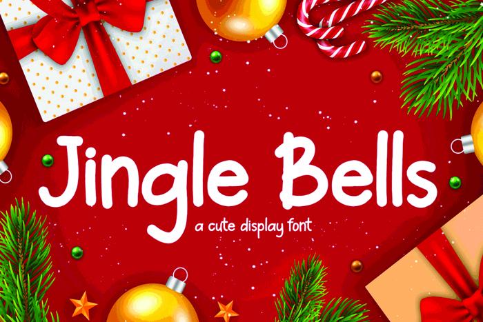 Jingle Bells Font poster