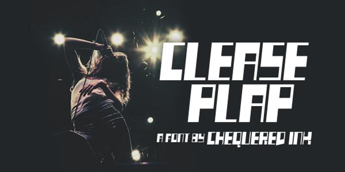 Clease Plap Font