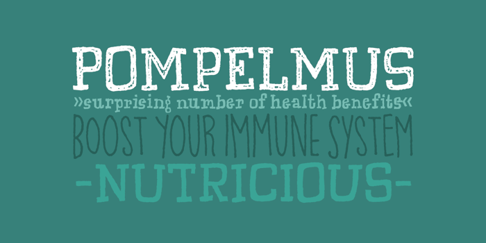 Pompelmus Healthy DEMO Font