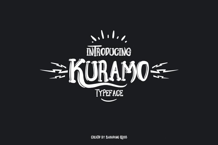 Kuramo Font poster