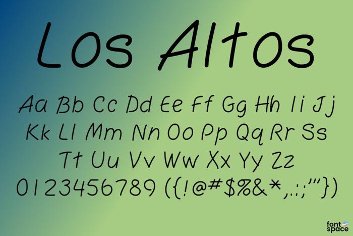 Los Altos Font poster