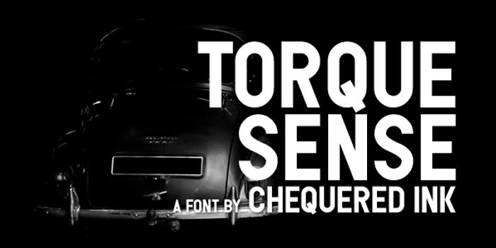 Torque Sense Font poster