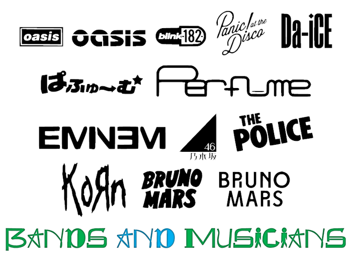 Bands and Musicians CHMC Font poster