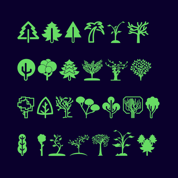 Trees Go Font poster