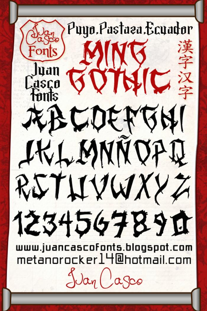 Ming Gothic JJCR Font poster