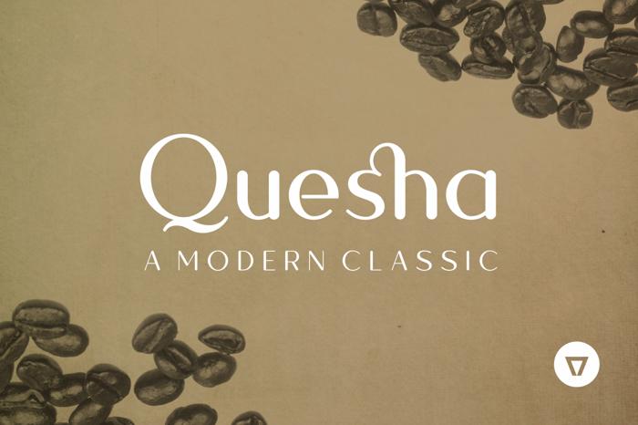 Quesha Font poster