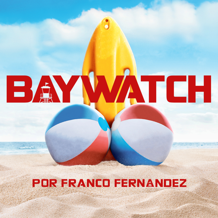 Baywatch Font poster