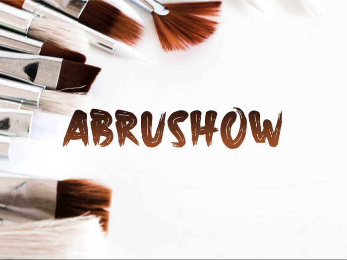 a Abrushow Font poster