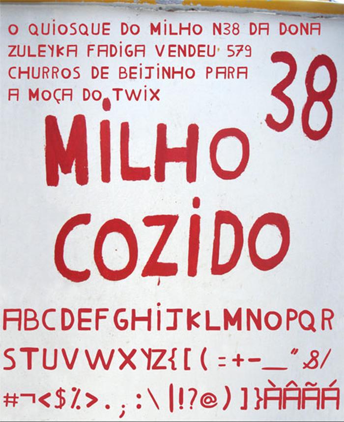 Milho Cozido Font poster