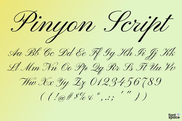 Pinyon Script Font poster